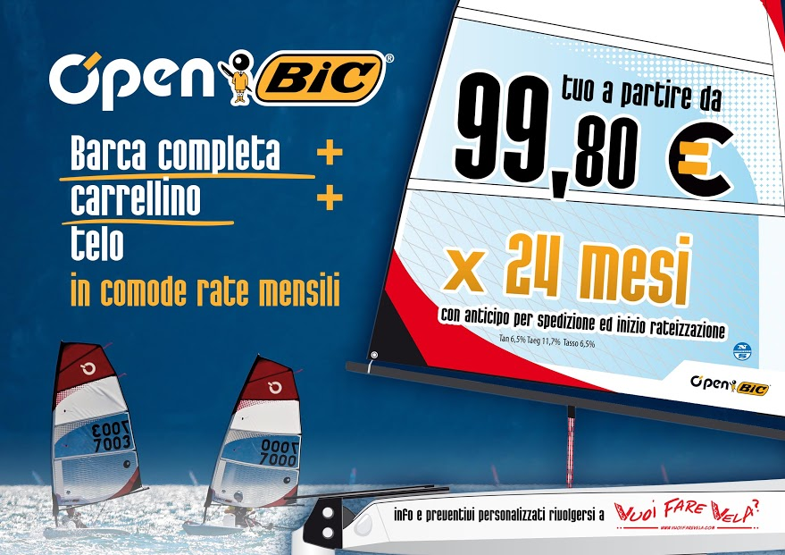 O'pen BIC + Carrellino + Telo a rate da 99,80€ in 24 mesi