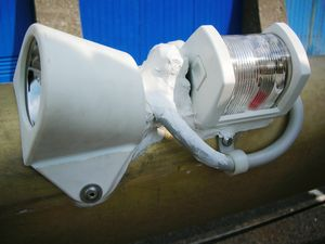 Disarmo/riarmo sartiame e re installazione luci/strumenti